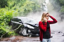 Accident de voiture seul © Shutterstock