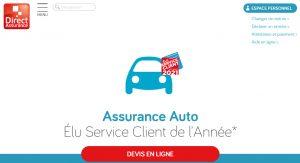 Accueil Direct Assurance auto