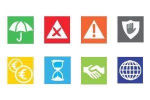 Icônes du document d'information sur le produit d'assurance